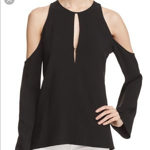 BNWT Theory Cold Shoulder Sarver Blouse Sz P